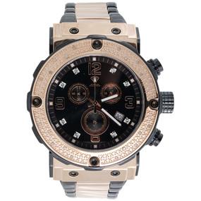 Men Diamond Watch Aqua Master Jojo Jojino Joe Rodeo Chronograph Black Dial W#146