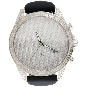 Mens XL Arctica Glory Full Iced Out Case Diamond Watch Illusion Dial 47mm | 3 CT