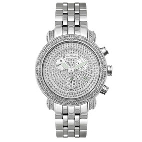 Men's Diamond Watch Joe Rodeo Classic JCL15 1.75 Ct Illusion Dial Chronograph