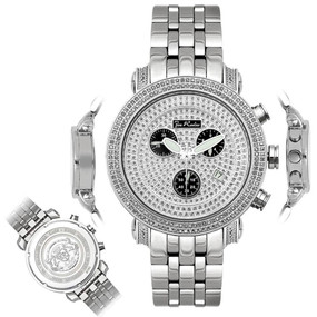 Men's Diamond Watch Joe Rodeo Classic JCL16 1.75 Ct Illusion Dial Chronograph