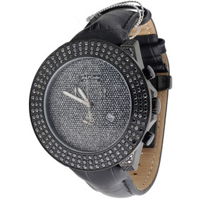 Joe Rodeo Platinum Black Diamond Watch JoJo Jojino Aqua Master 6.75 Ct. IJRPT 49