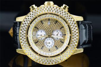 Mens IceTime Avenger JoJo Joe Rodeo 3 Row Diamond Watch w/Side Casing 9.00 ct.