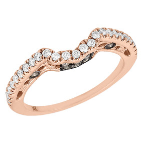 14K Rose Gold Brown Diamond Solitaire Engagement Ring Ladies Enhancer 0.3 Ct.