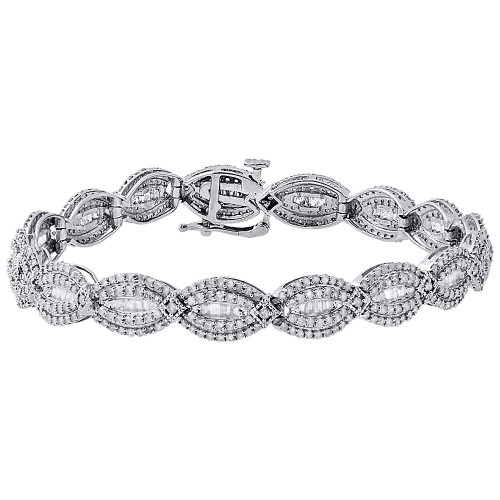 tw bracelet ct fashion diamond round jewelry baguette and