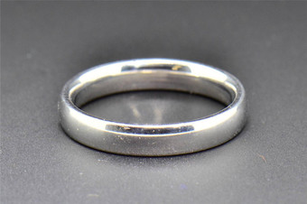 Comfort Fit Wedding Band 10K White Gold Plain Mens Engagement Ring 4mm SZ 10