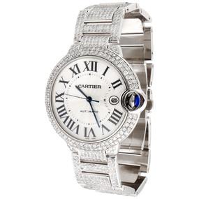 Men's Ballon Bleu de Cartier Large Fully Loaded Diamond 14.5 Ct 39mm Watch