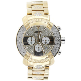 Mens Aqua Master Abruzzo 2 Tone Yellow Steel Diamond Watch 45MM W#96 0.25 Ct.