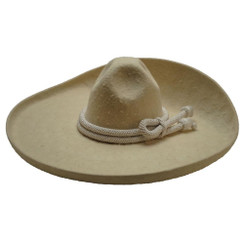 Sombrero Charro - Pelo de Conejo con Calabrote - San Luis Moderado - RR-71131