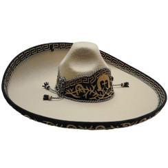 Impor Mexico  Sombrero Charro - Forrado Fino Galoneado - San Luis Moderado - RR-71143