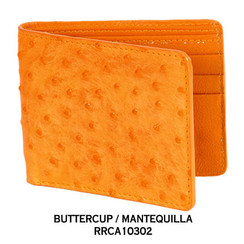 Original Exotic Ostrich Wallets - 23 Colors Available