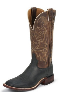 Tony Lama Men Boots - Americana Collection - Black Century Suntan Century Top - RR7945