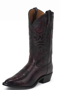 Tony Lama Men Boots - Americana Collection - Black Cherry Antique Regal Calf - RR7923