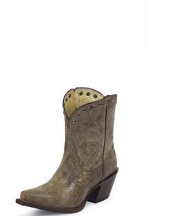 Tony Lama Women Boots - 100% Vaquero - Brass Mardi Grass - RR-VF3030