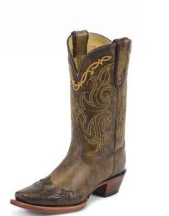 Tony Lama Women Boots - 100% Vaquero - Bark Santa Fe - RR-VF6004
