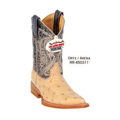 Los Altos Kid Boots - Ostrich - 3X Toe - Black - RR-450305