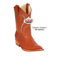 Los Altos Kid Boots - Deer - 3X Toe - Cognac - RR-458303
