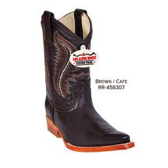 Los Altos Kid Boots - Deer - 3X Toe - Brown - RR-458307
