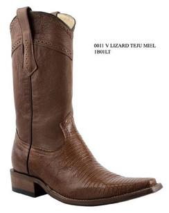 Cuadra Boots - Lizard Teju - Versace - Honey - RR1BO1LTHNY