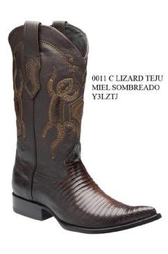 Cuadra Boots - Lizard Teju - Chihuahua - Dark Honey - RRY3LZTJDHNY