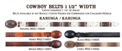 "Wild West - Original KARUNGA Cowboy Belts - 1 1/2"" width"