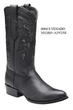 Cuadra Boots - Deer Leather - Semi Oval - Black - RRA3VENIBK