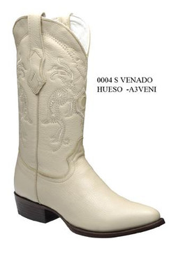 Cuadra Boots - Deer Leather - Semi Oval - Winter White - RRA3VENIWWH