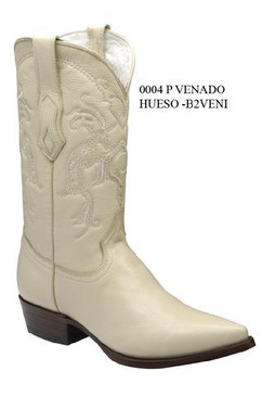 Cuadra Boots - Deer Leather - J Puntal Toe - Winter White - RRB2VENIWWH