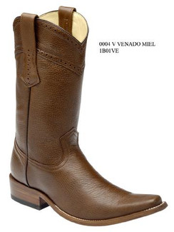 Cuadra Boots - Deer Leather - Versace Toe - Honey - RR1B01VEHNY