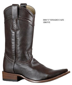 Cuadra Boots - Deer Leather - Versace Toe - Brown - RR1B01VEBR