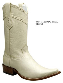 Cuadra Boots - Deer Leather - Versace Toe - Winter White - RR1B01VEWWH