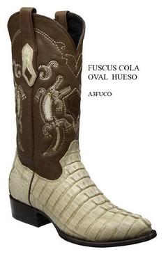 Cuadra Boots - Full Quill Crocodile Leather - Semi Oval - Winter White - RRA3FUCOWWH
