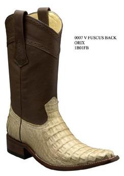 Cuadra Boots - Full Fuscus Caiman Belly - Versace Toe - Orix