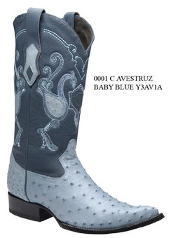 Cuadra Boots - Full Quill Ostrich - Chihuahua Toe - Baby Blue