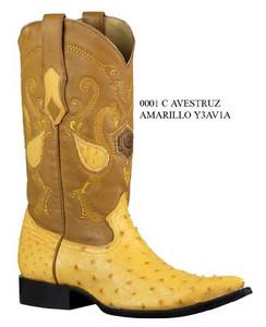Cuadra Boots - Full Quill Ostrich - Chihuahua Toe - Buttercup
