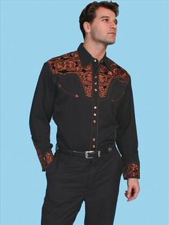 Scully Shirt - Black and Bronze - P-634