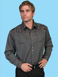 Scully Shirt - Charcoal - P-634