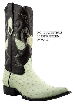 Cuadra Boots - Full Quill Ostrich - Chihuahua Toe - Linden Green