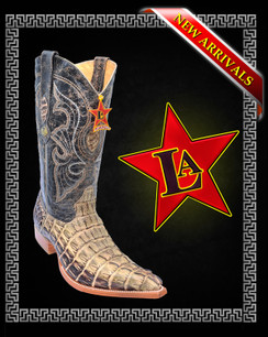 Los Altos Boots - 3x Toe - Caiman Tail - Rustic Green