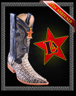 Los Altos Boots - 3x Toe - Caiman Tail - Brown Oryx