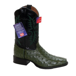 Forest Green - Tony Lama Ostrich Boot - HMI French Toe