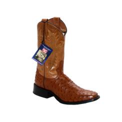 Cognac - Tony Lama Ostrich Boot - HMI French Toe