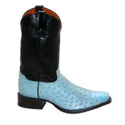 Baby Blue - Tony Lama Ostrich Boot - HMI French Toe