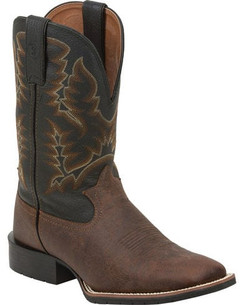 Tony Lama Brown Pitstops 3R Western Work Boots - Square Toe  RR3217