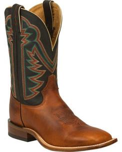 Tony Lama Tan Faded Ranch Cowboy Boots - Square Toe RR7980
