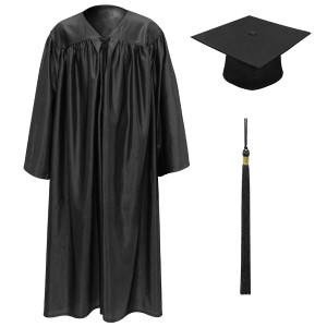 Black Little Scholar™ Cap, Gown & Tassel + FREE DIPLOMA