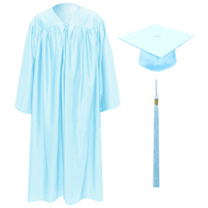 Light Blue Little Scholar™ Cap, Gown & Tassel + FREE DIPLOMA