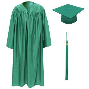 Emerald Little Scholar™ Cap, Gown & Tassel + FREE DIPLOMA
