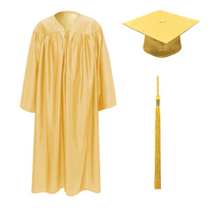 Antique Gold Little Scholar™ Cap, Gown & Tassel + FREE DIPLOMA