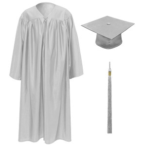 Silver Little Scholar™ Cap, Gown & Tassel + FREE DIPLOMA