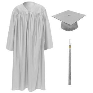 Silver Little Scholar™ Cap, Gown & Tassel + FREE DIPLOMA